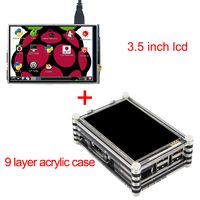 New Arrival Raspberry Pi 3 Model B 3 5 Inch LCD Touch Screen Kit with 9
