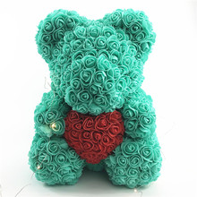 Beautiful handmade Bear from the flowers of roses! Creative birthday present