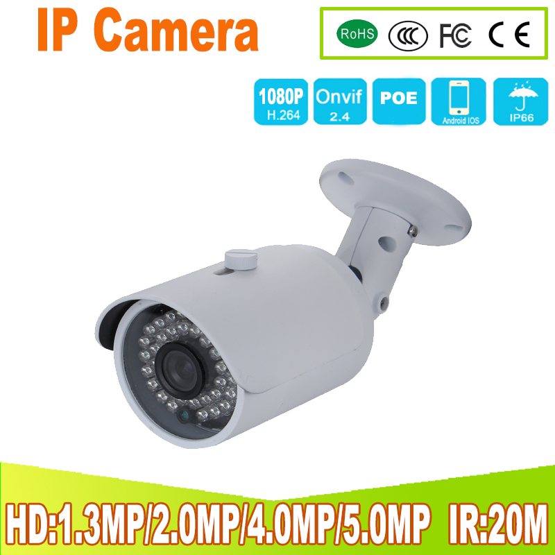 1.3mp 2MP 4mp Bullet 5mp IP Camera 1080P Outdoor IR 20m HD Security Waterproof Night Vision P2P CCTV IP Cam ONVIF IR Cut onvif 1080p hd cctv ip camera ip65 waterproof p2p onvif ir night vision security surveillance video mini bullet camera free shipping