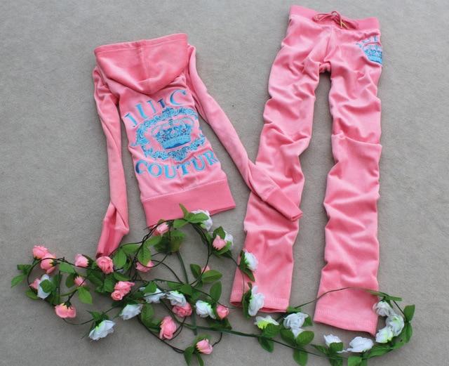 Бархатные костюмы новый бархат Моды leisure suit свитер моды с длинными рукавами костюм survetement femme