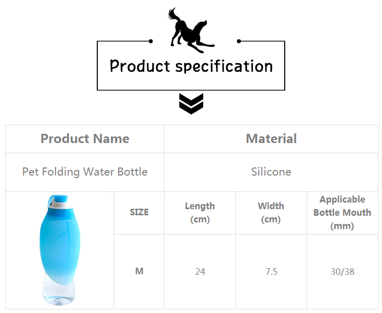 Dogs Water drinking Bottle, 580ml Water Dispenser with Drinking Feeder for Pets   DogsMall-International