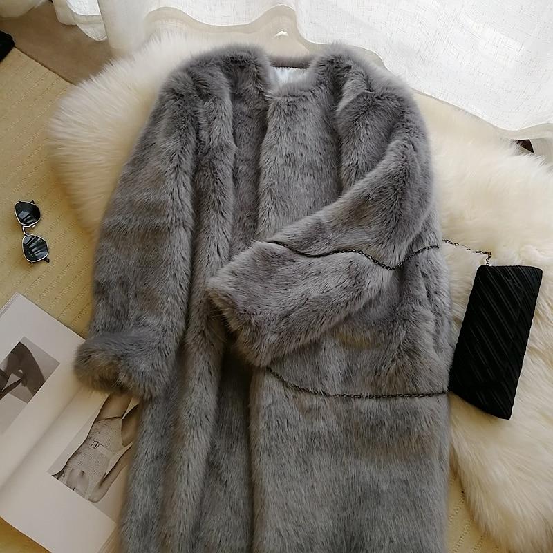 2018 Style S58 Gamme Fourrure Fausse Mode De Femmes Manteau Haut En Nouveau PPArBc16Z