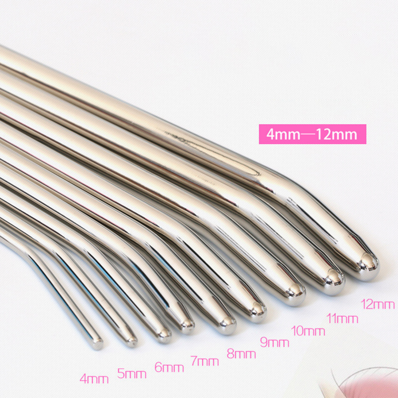 4-12mm Stainless Steel Urethral Plug Urethral Sound Catheter Male Penis Plug Sounding Dilator Erotic Adult Sex Toys For Men