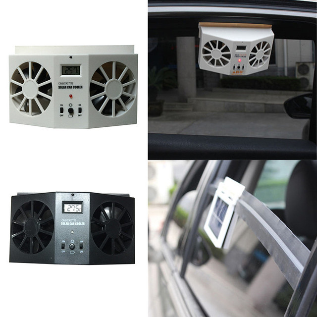 Solar Ed Dual Mode Car Fans New Cooling System Kit Dc12v White Air Vent Exhaust