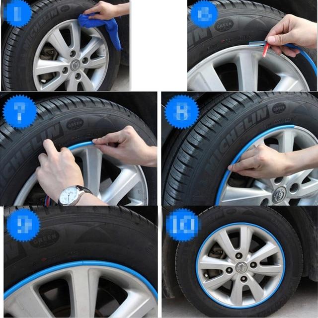 8m Car Shape Wheel Trim Strip For Infiniti Q50 Fx35 G35 Jeep