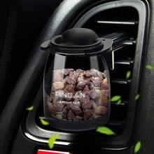 Auto Vent Klimaanlage Parfüm Lufterfrischer Glas Vase Keine Alkohol Stein Parfums Natürliche Duft Auto Dekoration Teile