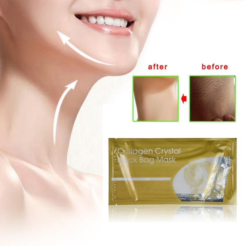 Schönheit & Gesundheit Kristall Kollagen Neck Maske Kristall Patch Anti-falten Feuchtigkeit Neck Maske Hjl2017