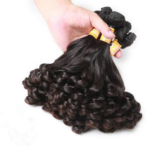 Hair-Spring Remy-Hair Funmi Mayflower Natural-Black Double-Drawn Curl 1/2/3/4-bundles