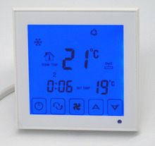 2p Touch screen Air-Conditioning Digital Room Thermostat with Timing program