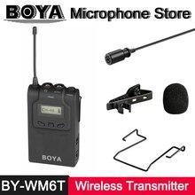 BY-WM6T BOYA Microfone de Lapela Sem Fio Receptor Transmissor para BY-WM8 BY-WM6 BY-WM8R BY-WM6R ENG EFP Gravação De Vídeo DSLR