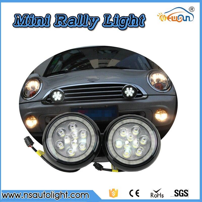 Daytime Running Light Fog Lights For MINI Cooper MINI Cars 12V White Chrome Shell LED Rally Driving position Lights Car Styling xenon white led daytime running lights drl fog lights for mini cooper r55 r56 r57 r58 r59 r60 r61 ultra bright car styling