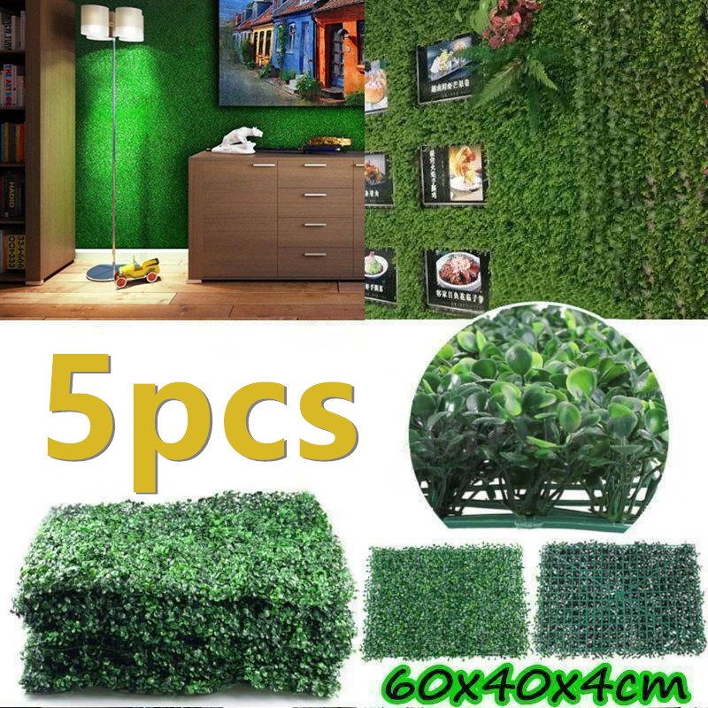 5PCS 40x60cm Artificial Grass Lawn Turf Simulation Plants Landscaping Wall Decor Green Lawn Door Shop Image Backdrop Grass Lawns