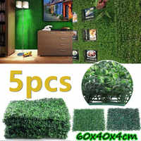 5PCS 40x60cm Artificial Grass Lawn Turf Simulation Plants Landscaping Wall Decor Green Lawn Door Shop Image Backdrop Grass Lawns