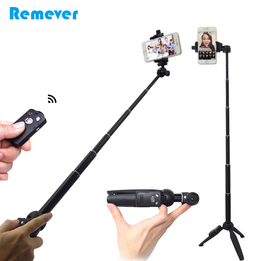 3 in 1 Mini Selfie Stick With Tripod Ball Head For Gopro+Bluetooth Remote Extendable Monopod For Iphone Xiaomi Samsung phones
