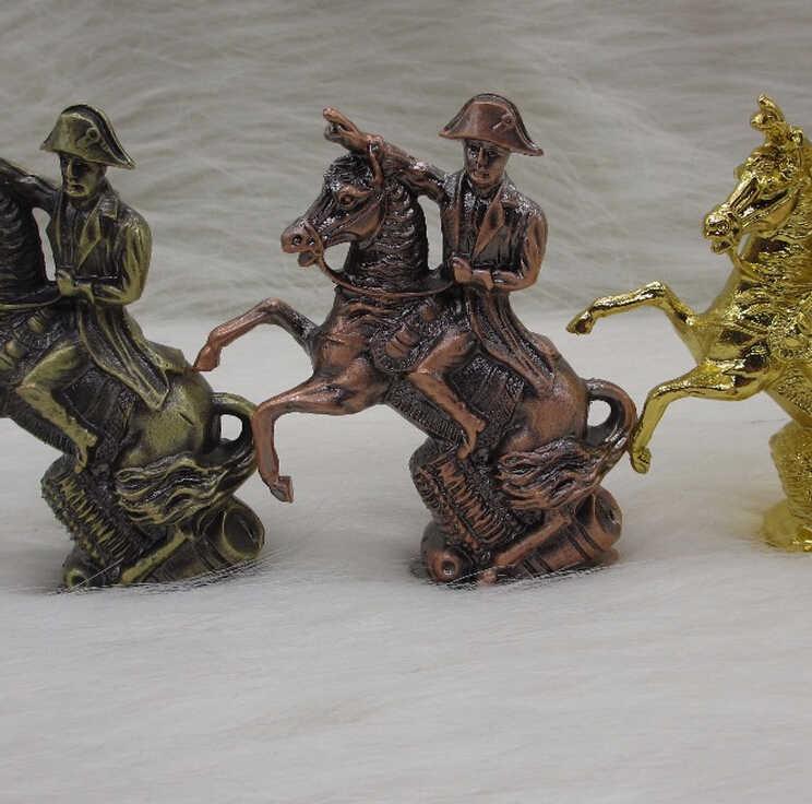 WBY --- 712 Antyczne Miedzi Platerowane Francja Hero Rysunek Statua Napoleon Jazdy Jazda Rzeźba Rzemiosło Metalowe Biurko Dekoracji