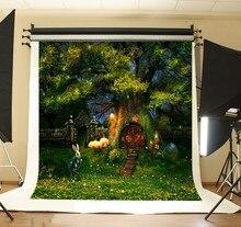 Alice No País Das Maravilhas Dos Desenhos Animados Casa Na Árvore Fundos Computador impresso foto do casamento de fundo pano de Vinil de Alta qualidade