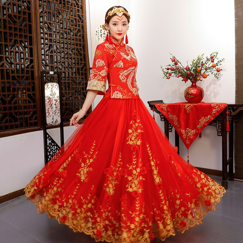 Ancient Marriage Costume The Bride Clothing Gown Traditional