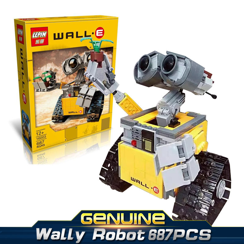 LEPINE IDEAS series movie WALL-E tile force robot 687PCS MOC Model Building Kits Brick Block Toys gift Compatible 21303 2017 new lepine pirate ship imperial warships model building kits block briks toys gift 1717pcs compatible lele 10210