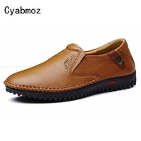 Top Quality Men Flats Shoes Genuine Leather Man Shoes Handmade Loafers Moccasins Plus Size 38 47