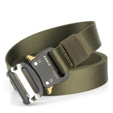 125cm Outdoor Military Tactical Belt Solid Buckle Nylon Waist Belts Automatic for Hunting Camping Equipment