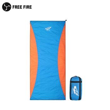 3 Season Synthetic Sleeping Bag Hollow Fiber Double Sleeping Bag, Camping Sleeping Bag FREE FIRE