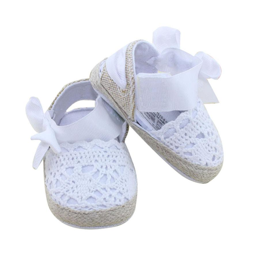 LONSANT First Walker Baby Shoes 2018 Infant Toddler Princess First Walkers Prewalker Shoes Bow Shoes Dropshipping Wholesale image