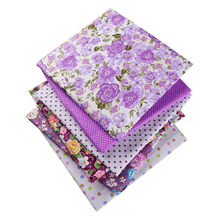50X50cm 100% Cotton Floral Flowers Dots Fabric For Doll Patchwork Clothes Sewing Needlework Christmas Decor Home Textile 53122(China)