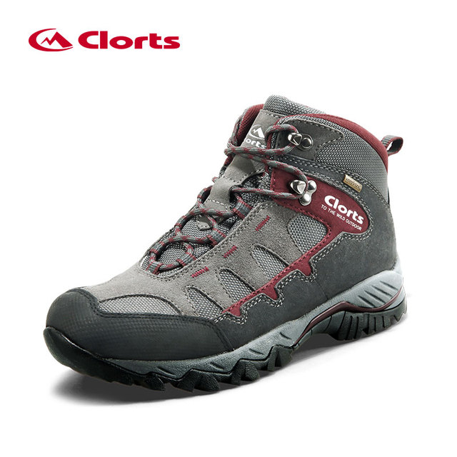 Clorts Men's Sneakers Waterproof Shoes Winter Hiking Shoes Leather Sneakers Man Hiking boots Anti-skid Outdoor Shoes HKM-823