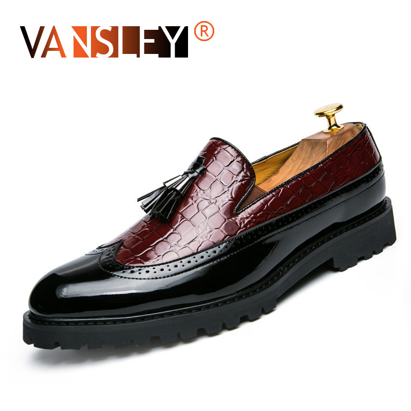 Men's Formal Shoes Wedding Dress Tassel Casual Shoes men Fashion Man Moccasin Wedding Party Comfortable Leather Brogue Shoes