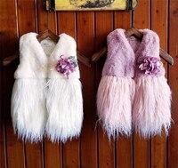 Children Clothing Winter Outerwear Coats Tassel Thick Princess Girls Vest Kids Jackets Baby Girl Warm Waistcoat