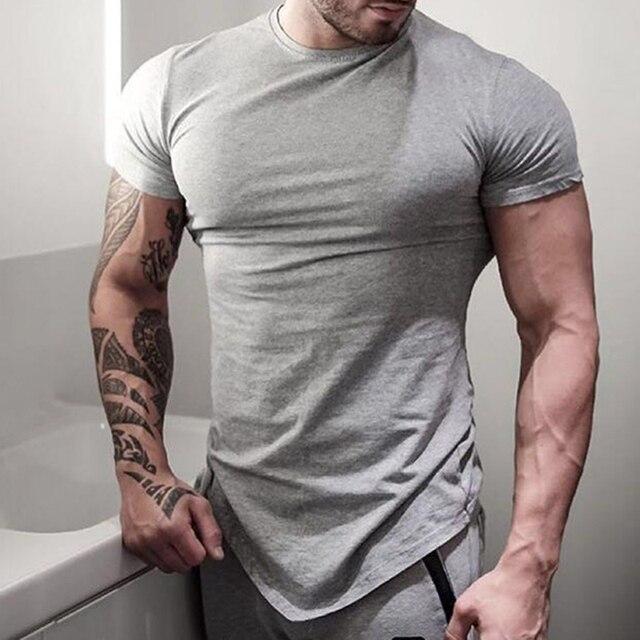 Aliexpress.com : Buy Men Gyms Bodybuilding T shirts Short Sleeve ...