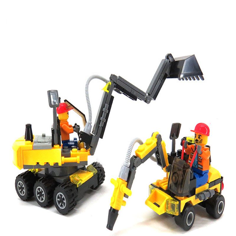 Lepin City Construction Excavator Building Block sets playmobil Compatible  City Toys Brinquedos Educational Bricks Gift lepin 16008 4160pcs cinderella princess castle city model building block kid educational toys for gift compatible legoed 71040