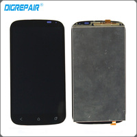 Black For HTC Desire X T328E LCD Display Monitor Panel touch screen with digitizer Front Glass Assembly Replacement Parts