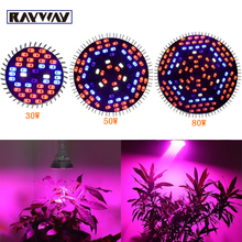 30W 50W 80W E27 AC85-265V reef Full Spectrum Led Grow Light Plant Grow Lamp Bulb IR UV 5730SMD Flower Growing Hydroponics System