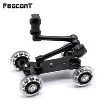 """Mobile roulant coulissant Dolly stabilisateur patineur curseur 11 """"articulant bras magique caméra Rail support photographie voiture pour GoPro 7 6"""