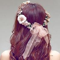 2016 Fashion Women Wedding Rose Flower Headband Wreath Floral Garlands Baby Girl Hairbands Hair Band Head