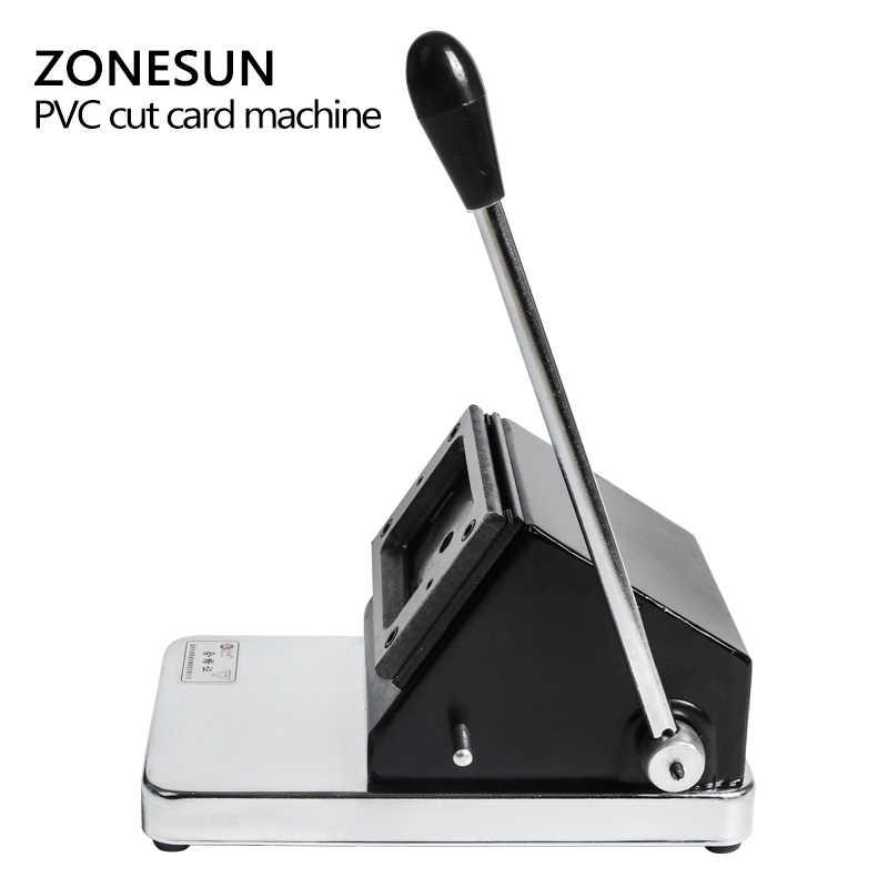 ZONESUN ミニカッター切断機小型紙カード PVC カードの写真名刺名刺ダイカッター