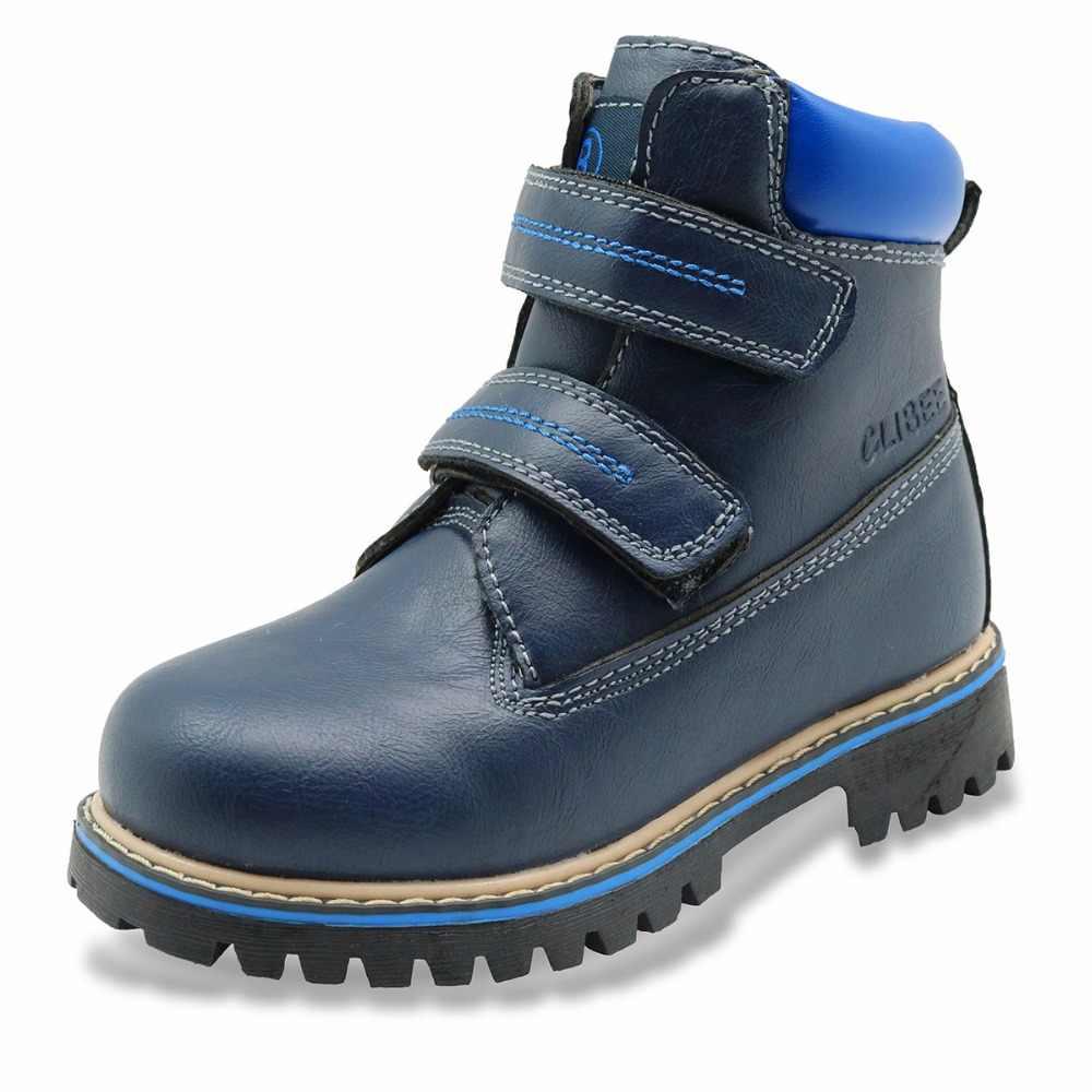 Apakowa Kış Yürümeye Başlayan çocuk Botları Hakiki PU Deri Çocuk Erkek Botları Martin Çizmeler Su Geçirmez Erkek Kahverengi Çizmeler Lace Up Kar çizmeler