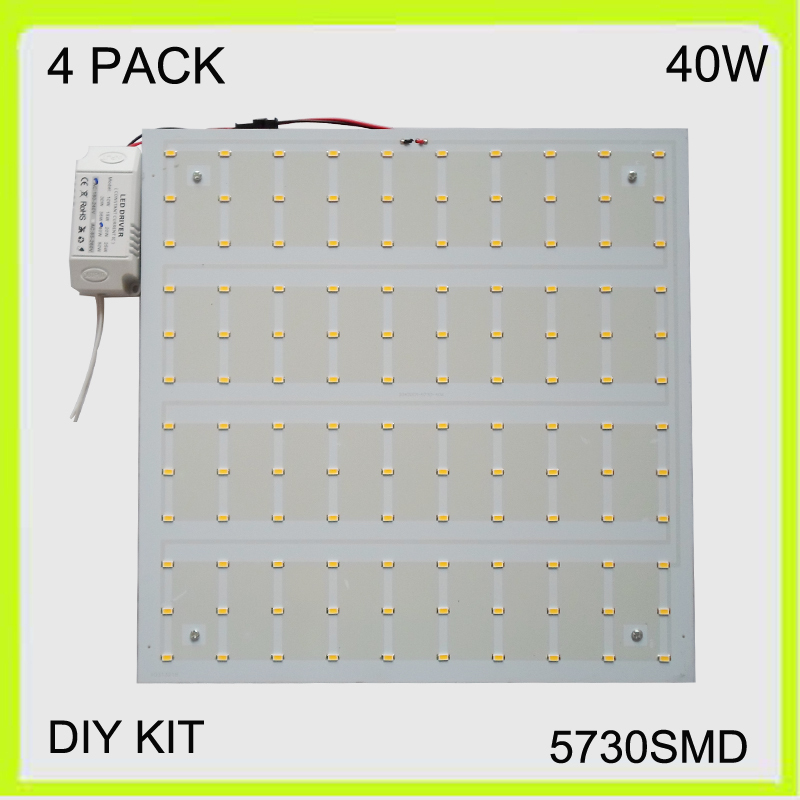 New manufacturer 2 YEAR WARRANTY 4 PACK 40W LED ceiling light square LED panel LED luminaries