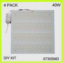 New manufacturer 2 YEAR WARRANTY 4 PACK 40W LED ceiling light square LED panel LED luminaries techo LED 30*30cm 220V 230V 240V