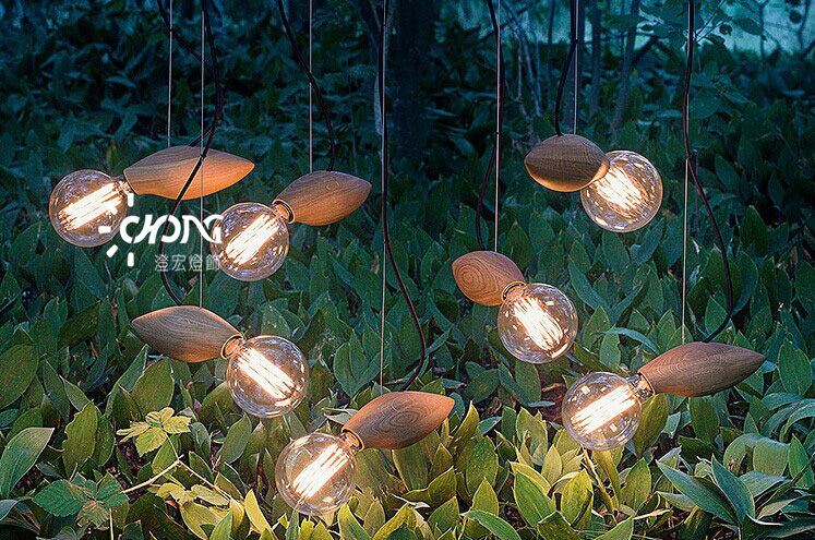 Single Head Fireflies Solid Wooden Vintage Dining Room Pendant Light Restaurant Decoration Lamp Study Light Free Shipping a season for fireflies