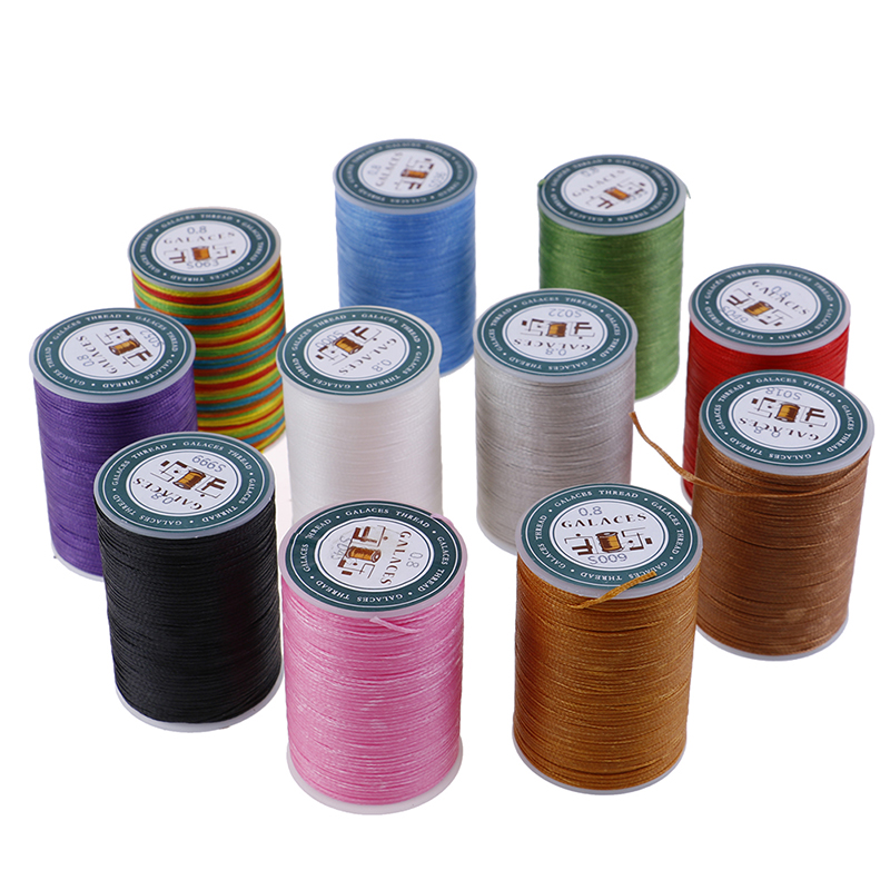 Waxed Thread 0.8mm//90m Polyester Cord Sewing Machine Stitching For Leather Craft