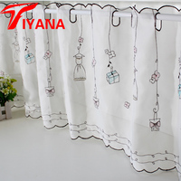 Small Fresh Half Finished Products Coffee Curtain Semi Shade Girl Gift Child Real Rod Curtain Yarn