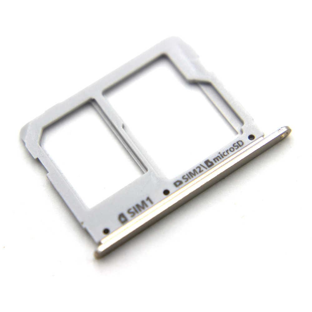Dual SIM Tray Slot para Cartão Micro SD para Samsung Galaxy A3 A5 A7 2016 Card Reader Suporte para A310 A510 A710