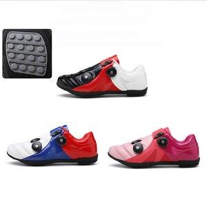 Image 4 - פנאי MTB כביש אופני נעלי גברים נשים נעלי רכיבה לא נעילת רכיבה על אופניים נעל mtb גומי סוליות ספורט נעלי Sapatilha Mtb ciclismo