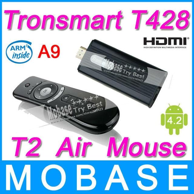 [T2 Air Mouse] Tronsmart T428 Quad Core TV Box Android 4.2 Mini PC RK3188 Cortex-A9 1.8GHz 2G/8G Broadcom AP6330 BT WiFi HDMI