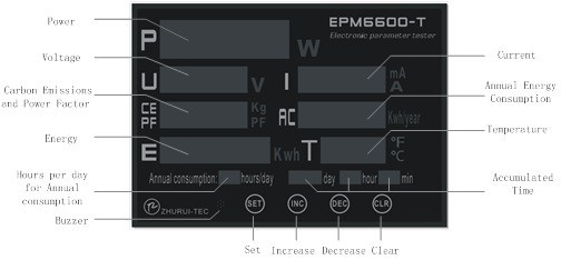 EPM6600-T 20A / 6kw galios matuoklis / bandymo įtampa / srovė / - Matavimo prietaisai - Nuotrauka 3
