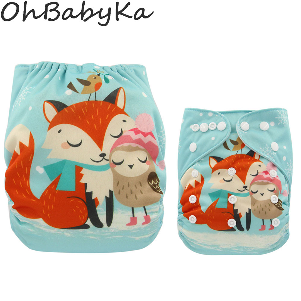 Washable Diapers Couches Lavables  2016 Baby Diaper Cover Wrap Cartoon Print Baby Nappy Changing Reusable Baby Cloth Diapers