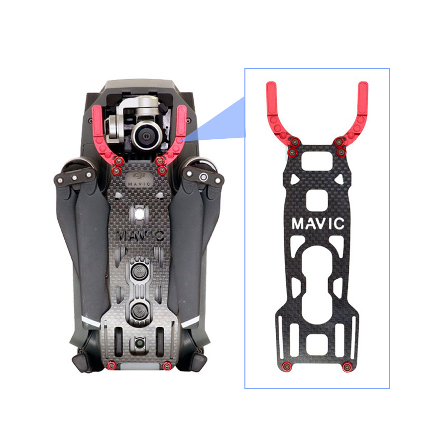 JMT Body Frame Case 3K Carbon Fiber Protection Plate Camera Gimbal Guard Not Affect the Obstacle Avoidance for DJI Mavic Pro