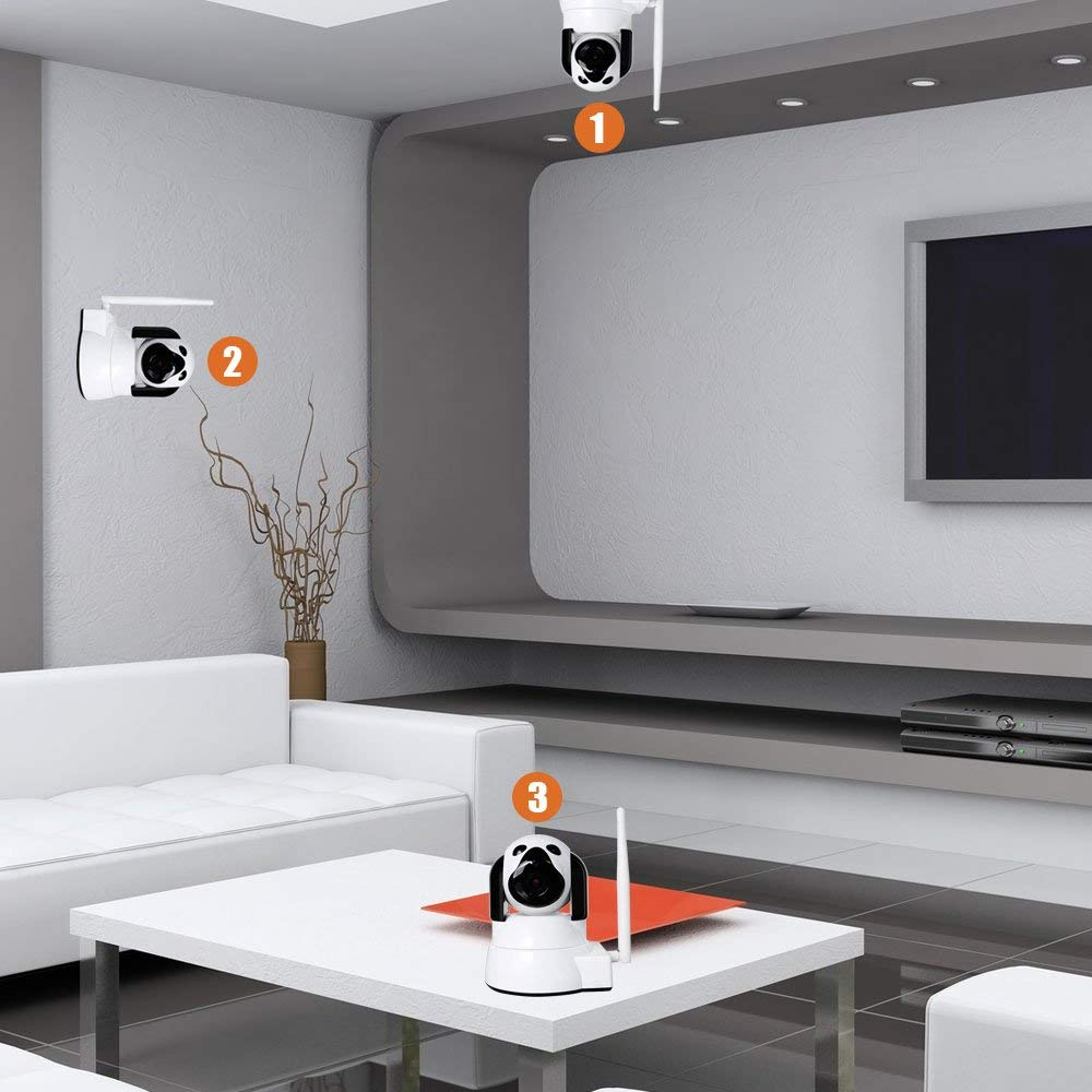 YYZ100SS-SNB caméra réseau petit chien bébé Mornitor HD sécurité à domicile Wifi sans fil intelligent téléphone Machine de surveillance à distance - 4